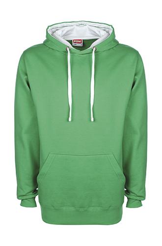 FDM Contrast Hoodie Green/White